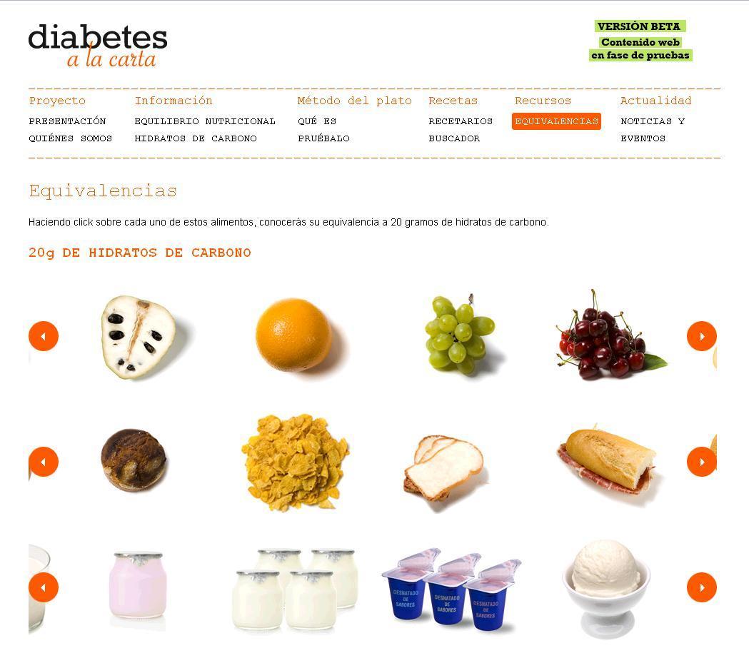 Diabetes a la carta un proyecto ejemplar alimentaci n y prevenci n - Alimentos para controlar la diabetes ...